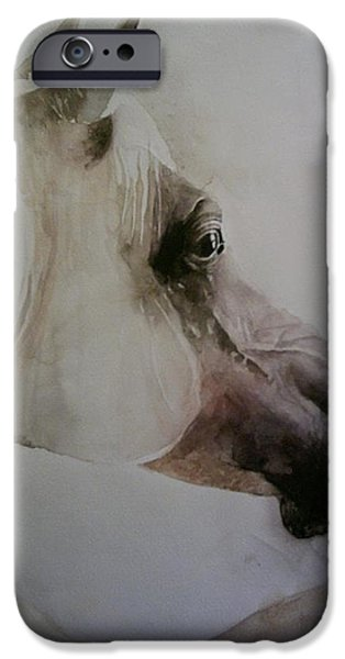 Horus iPhone Cases - Thoroughbred Mare iPhone Case by Ishan Salah