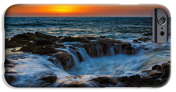 Oregon Coast iPhone Cases - Thors Well iPhone Case by Rick Berk