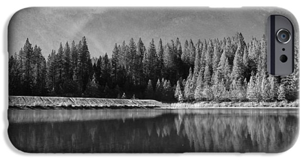 Black And White Landscapes iPhone Cases - Those Days Are Gone iPhone Case by Laurie Search