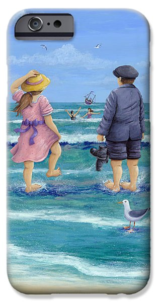 Bathing iPhone Cases - Those Were The Days iPhone Case by Peter Adderley