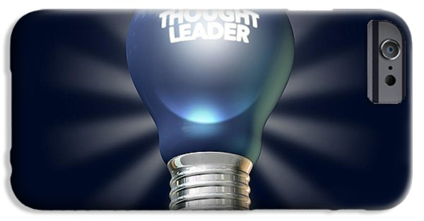 Electrical Digital Art iPhone Cases - Thought Leader iPhone Case by Allan Swart