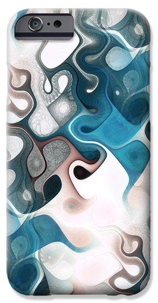 Shape iPhone Cases - Thought Process iPhone Case by Anastasiya Malakhova