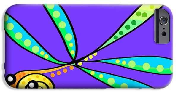 Dragonfly iPhone Cases - Thoughts and colors series dragonfly iPhone Case by Veronica Minozzi