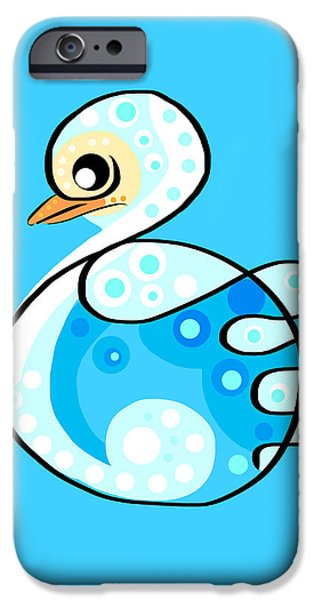 Nature Abstracts iPhone Cases - Thoughts and colors series duckling iPhone Case by Veronica Minozzi