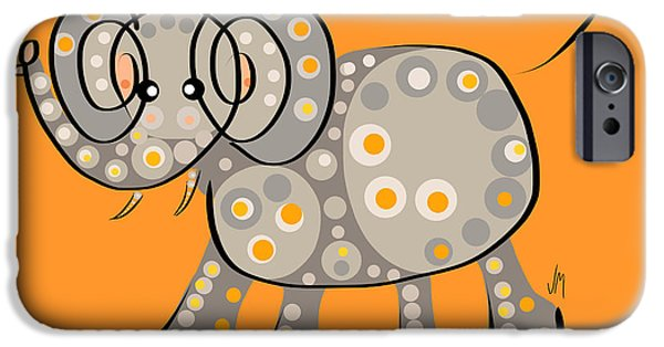 Elephant iPhone Cases - Thoughts and colors series elephant iPhone Case by Veronica Minozzi