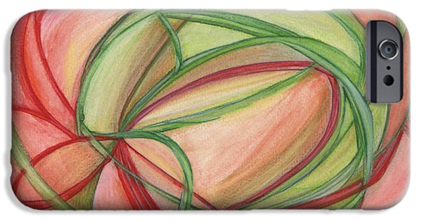 Thought Drawings iPhone Cases - Thoughts Create iPhone Case by Kelly K H B