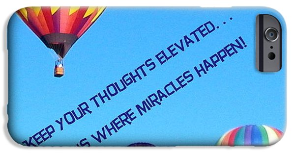 Miracle iPhone Cases - Thoughts Elevated iPhone Case by Bobbee Rickard