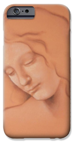 Thinking Pastels iPhone Cases - Thoughts iPhone Case by Grady Simmons