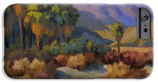 Canyons Paintings iPhone Cases - Thousand Palms iPhone Case by Diane McClary