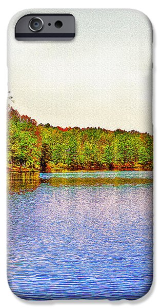 Thousand Trails Preserve Natchez Lake  iPhone Case by  Bob and Nadine Johnston