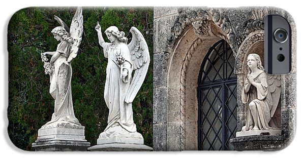 Seraphim Angel iPhone Cases - Three Angels iPhone Case by Terry Reynoldson