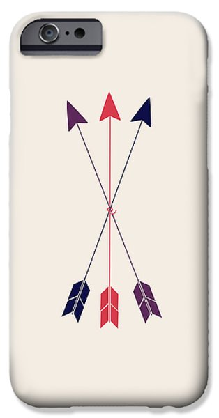 Arrow iPhone Cases - Three Arrows  iPhone Case by Sara Habecker