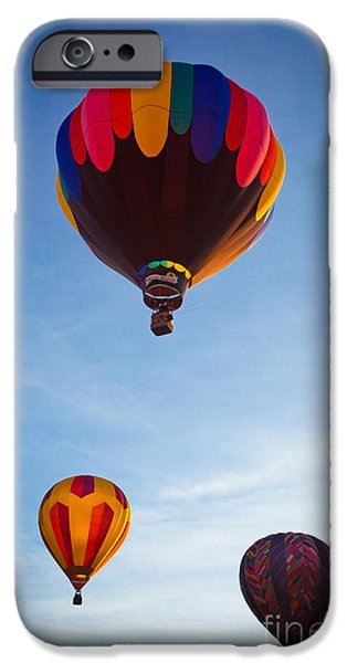 Hot Air Balloon iPhone Cases - Three Balloons iPhone Case by Inge Johnsson