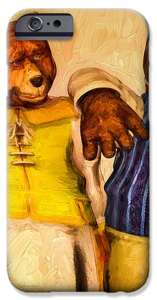 Three Bears Family Portrait iPhone Case by Bob Orsillo