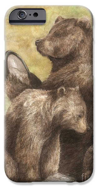 Three bears iPhone Case by Meagan  Visser