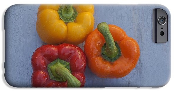 Shape iPhone Cases - Three bell peppers iPhone Case by Vishwanath Bhat
