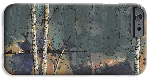 Birch Tree iPhone Cases - Three Birches iPhone Case by John Wyckoff