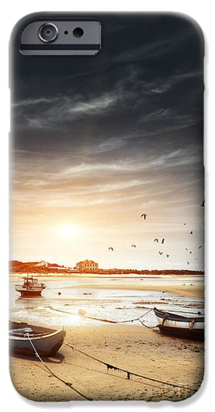 Atlantic iPhone Cases - Three Boats iPhone Case by Carlos Caetano