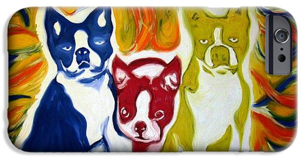 Recently Sold -  - Boston iPhone Cases - Three Bostons iPhone Case by  Artist Alfredo Dane Llana
