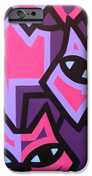 Texture iPhone Cases - Three Cats iPhone Case by John  Nolan