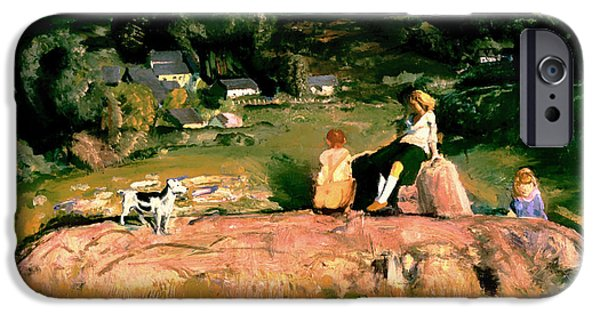 House Pet Paintings iPhone Cases - Three Children iPhone Case by George Bellows
