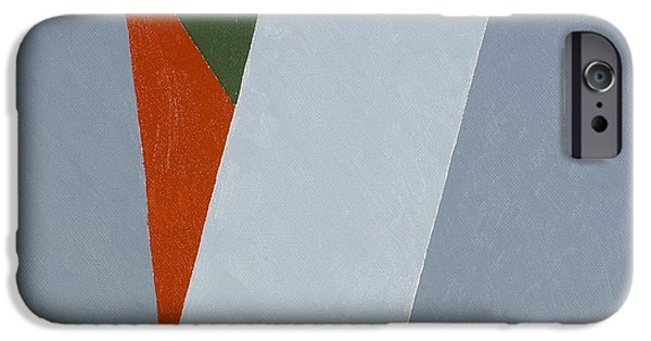 Abstracts iPhone Cases - Three Colour Projection, 2008 Oil On Stretched Cotton Canvas iPhone Case by George Dannatt
