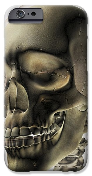 Three Dimensional View Of Human Skull iPhone Case by Stocktrek Images