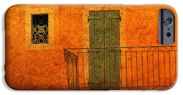 Balcony iPhone Cases - Three Doors in Provence iPhone Case by Dave Mills