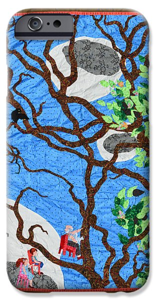 People Tapestries - Textiles iPhone Cases - Three Flying Chairs iPhone Case by Nancy Mauerman