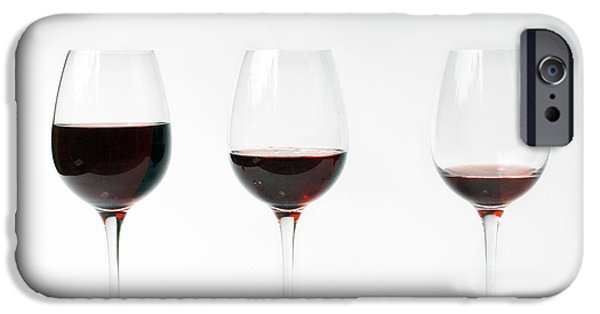 Wine Sipping iPhone Cases - Three Glasses Of Wine  iPhone Case by Patricia Hofmeester