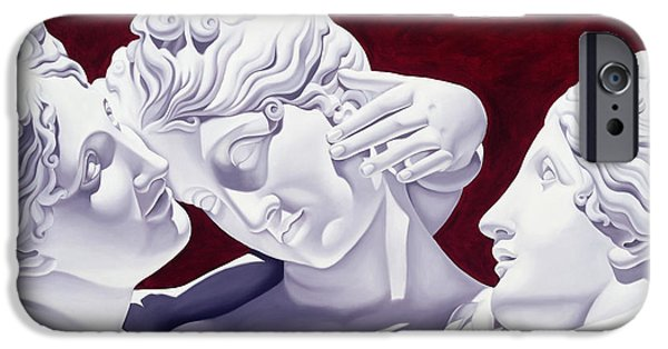 Sculptures iPhone Cases - Three Graces iPhone Case by Catherine Abel