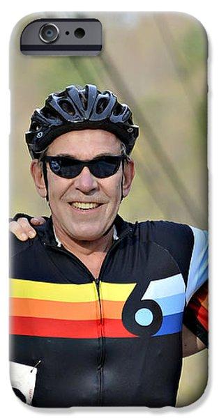 Three Gran Fondo Riders iPhone Case by Susan Leggett