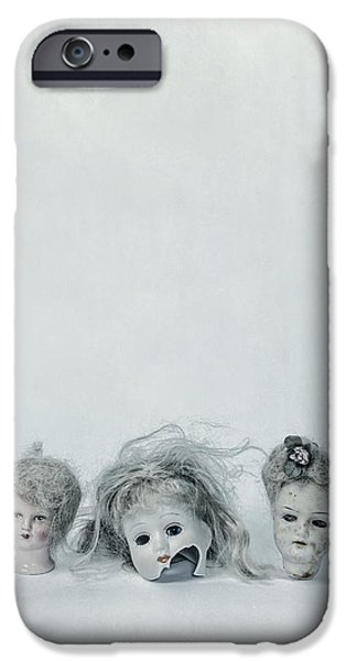 Eerie iPhone Cases - Three Heads iPhone Case by Joana Kruse