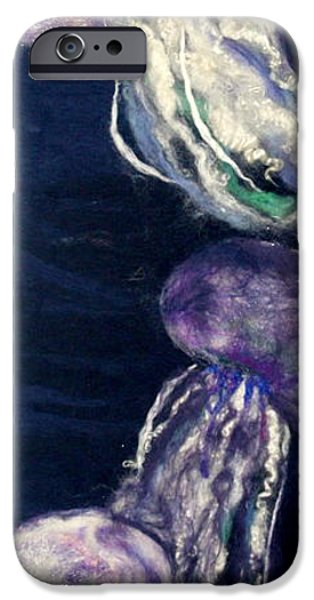 Needle Tapestries - Textiles iPhone Cases - Three Jellyfish iPhone Case by Kyla Corbett