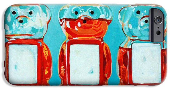 Kitchen iPhone Cases - Three Little Bears iPhone Case by Jayne Morgan