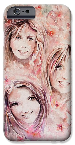 Miracle iPhone Cases - Three Miracles iPhone Case by Rachel Christine Nowicki