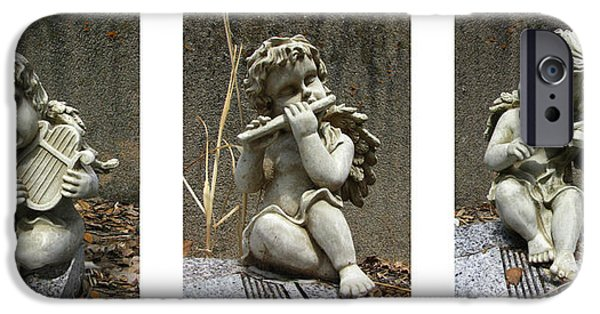 Headstones iPhone Cases - Three Musicians Triptych  iPhone Case by Peter Piatt