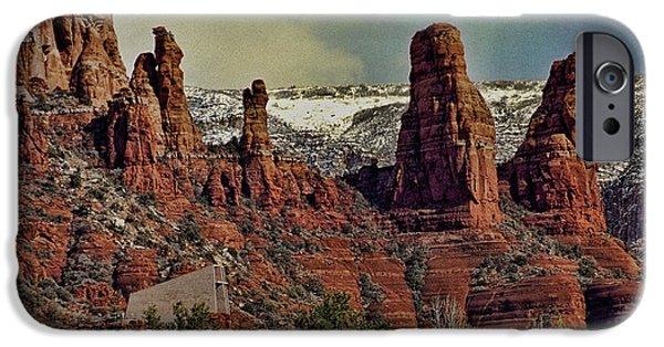 Sedona iPhone Cases - Three Nuns Sedona AZ iPhone Case by Robert Albrecht