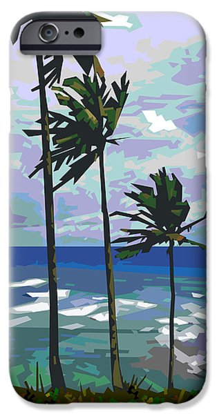 Brasil iPhone Cases - Three Palms iPhone Case by Douglas Simonson