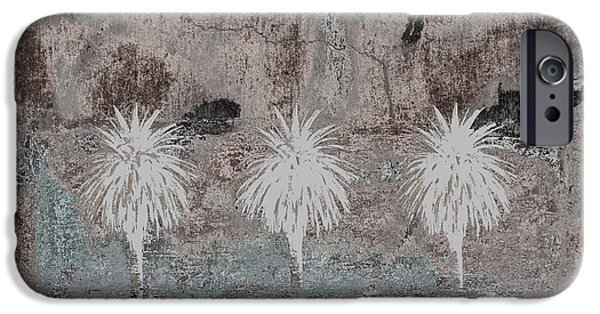 Desert iPhone Cases - Three Palms Oasis iPhone Case by Carol Leigh