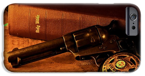 Recently Sold -  - Law Enforcement iPhone Cases - Three Peacemakers iPhone Case by Trey Edings