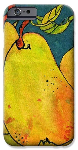 Three Pears Art  iPhone Case by Blenda Studio