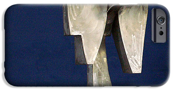 Stainless Steel Sculptures iPhone Cases - Three Sisters  iPhone Case by Richard Arfsten