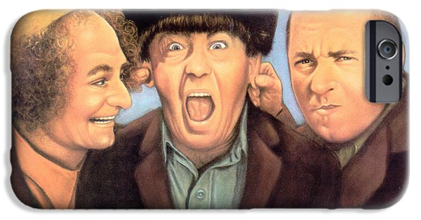 Best Sellers -  - Business Pastels iPhone Cases - Three Stooges iPhone Case by Sally  Evans