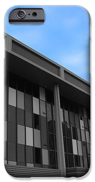 Three Story Selective Color Building iPhone Case by Bill Woodstock
