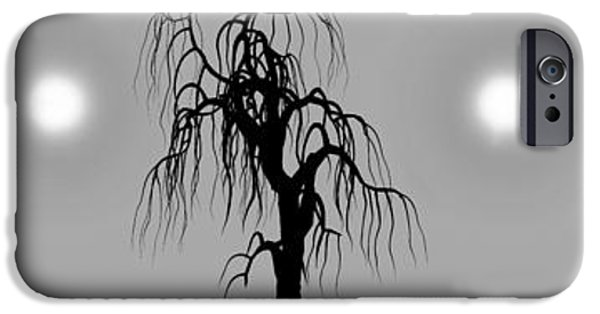 Surreal Landscape Digital iPhone Cases - Three Trees iPhone Case by Bob Orsillo