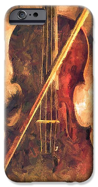 Collectible Mixed Media iPhone Cases - Three Violins iPhone Case by Bob Orsillo