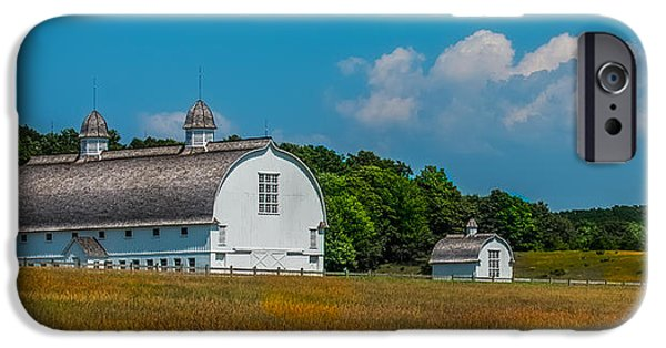 Inexpensive iPhone Cases - Three White Barns iPhone Case by Paul Freidlund