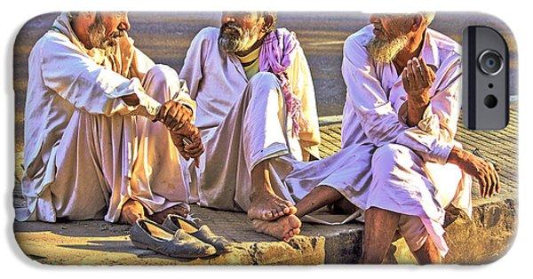 White Beard iPhone Cases - Three Wise Men iPhone Case by Prakash Ghai