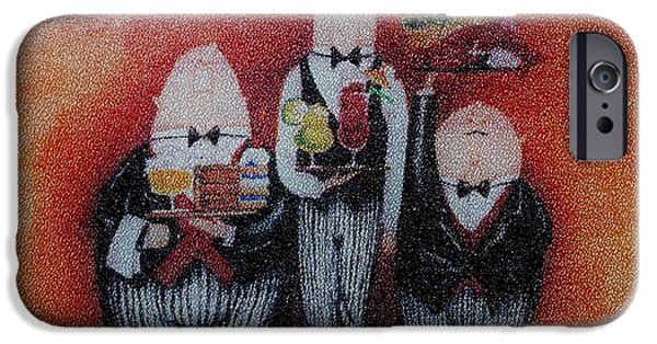 Waiter Digital iPhone Cases - Three Wise Men iPhone Case by Rob Hans